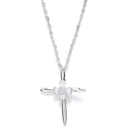 Bay Studio Rhinestone Cross Pendant Necklace