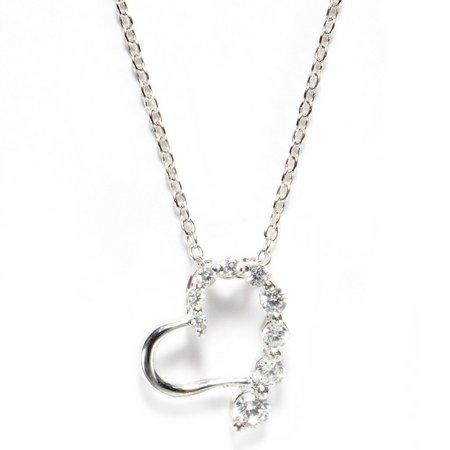 Bay Studio Boxed CZ Heart Pendant Necklace