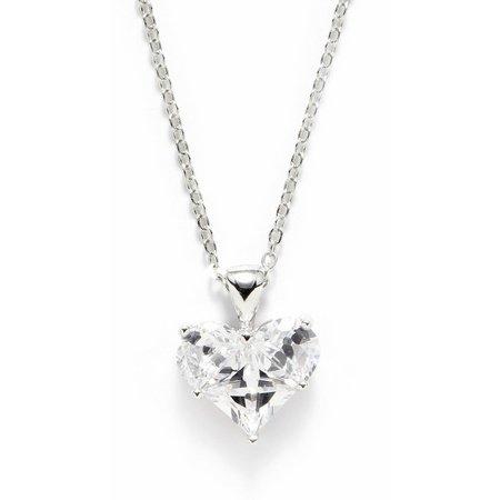 Bay Studio Cubic Zirconia Heart Pendant Necklace