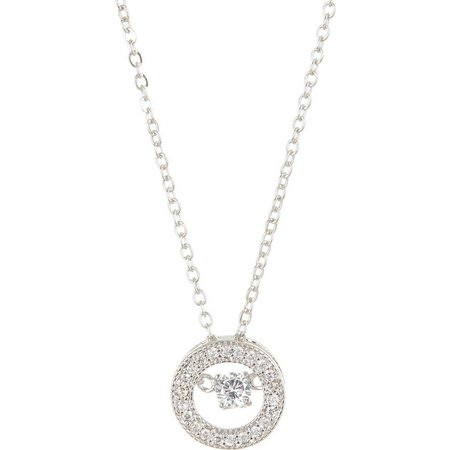 Bay Studio Cubic Zirconia Circle Pendant Necklace