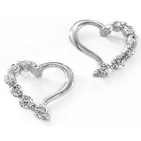 Bay Studio CZ Heart Journey Stud Earrings