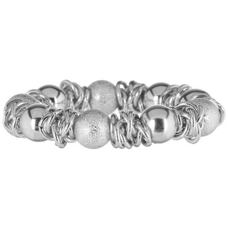 Bay Studio Silver Tone Diamond Dust Bracelet