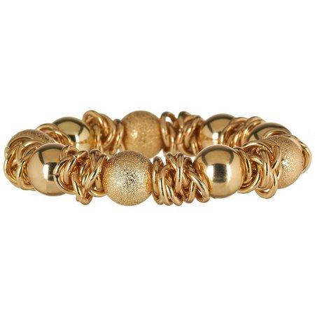 Bay Studio Gold Tone Diamond Dust Bracelet