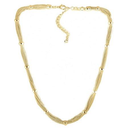 Bay Studio Silver Tone Multi Chain Necklace