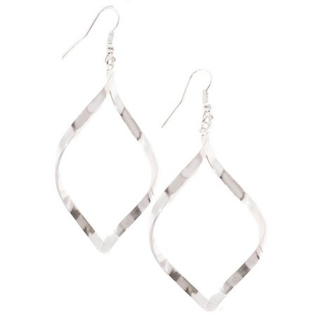 Bay Studio Silver Tone Twisted Drop Earrings