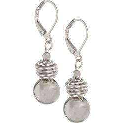 Bay Studio Silver Tone Beehive Ball Drop Earrings