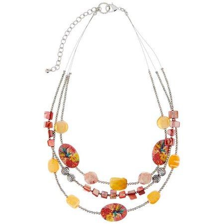 Leoma Lovegrove Pineapple Shell Multi Row Necklace