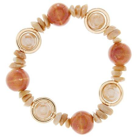 Aris by Treska Natural Beige Beaded Bracelet