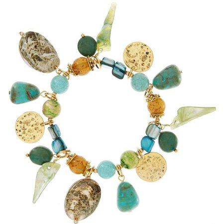 Aris by Treska Mermaid Shell Charm Shaky Bracelet