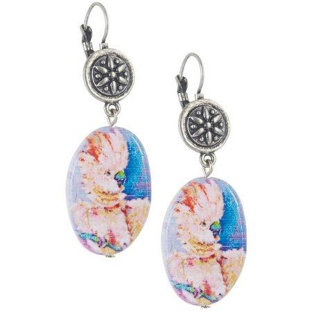 Leoma Lovegrove Mozart Oval Shell Earrings