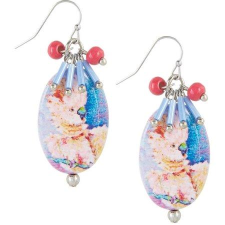 Leoma Lovegrove Mozart Oval Shell Drop Earrings