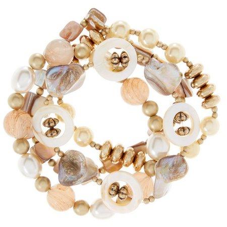 Aris by Treska 4-pc. Shells & Beads Bracelet