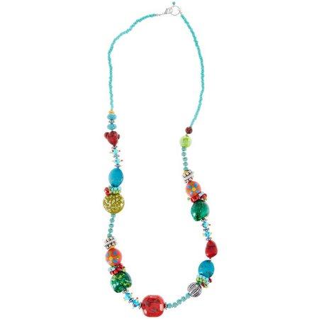 Aris by Treska Long Tahiti Artisan Bead Necklace
