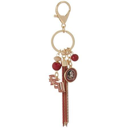 Florida State Seminoles Chain Link Tassel Keychain