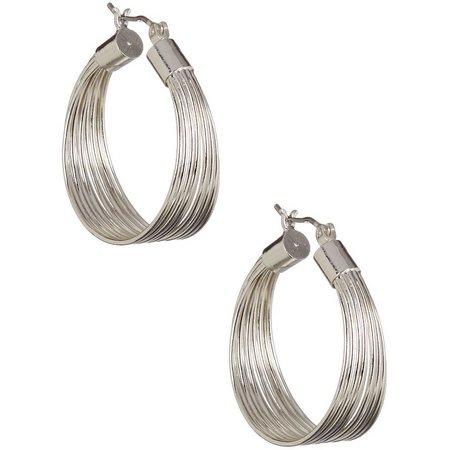 Bay Studio Silver Tone Multi Wire Hoop Earrings