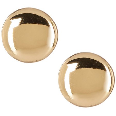 Bay Studio Gold Tone Button Disc Earrings