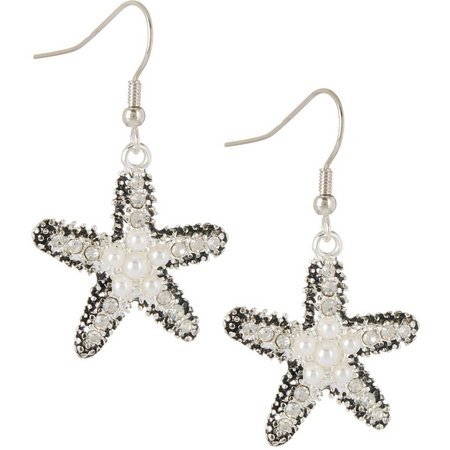 Bay Studio Faux Pearl Starfish Drop Earrings
