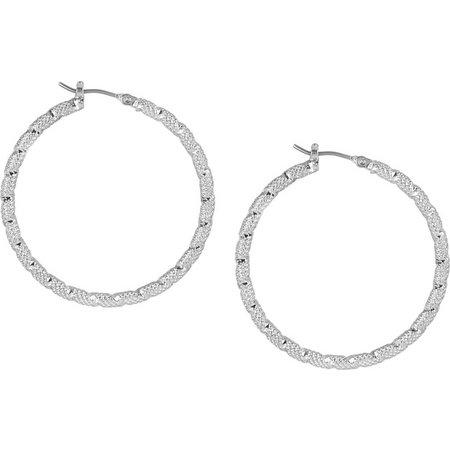 Bay Studio Textured Hoop Earrings