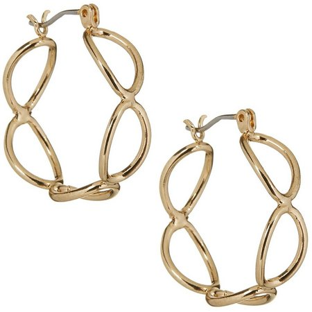 Bay Studio Gold Tone Oval Link Hoop Earrings
