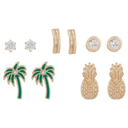 Bay Studio 5-pc. Palm Tree Stud Earring Set