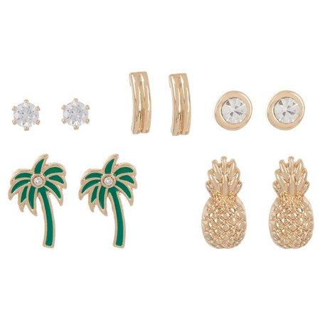 Bay Studio 5-pc. Palm Tree Stud Earring Set