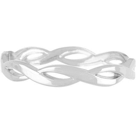 Bay Studio Silver Tone Twisted Bangle Bracelet