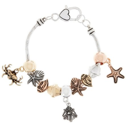 Be Charmed Tri Tone Sealife Charm Bracelet