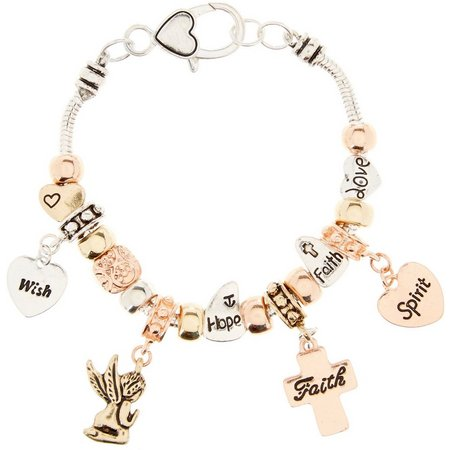 Be Charmed Faith Hope Cross Charm Bracelet