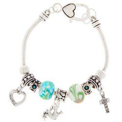 Be Charmed Love Faith Peace Charm Bracelet