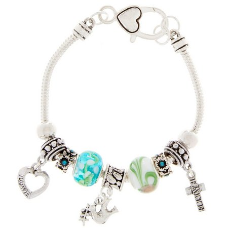 Be Charmed Love Faith Peace Charm Bracelet