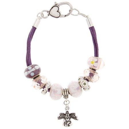 Be Charmed Boxed Angel Charm Cord Slider Bracelet