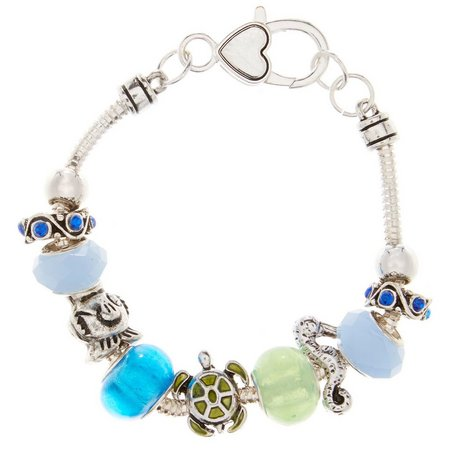 Be Charmed Boxed Turtle Seahorse Charm Bracelet