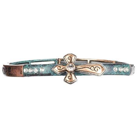 Believe In Cross Dream Trust Love Stretch Bracelet