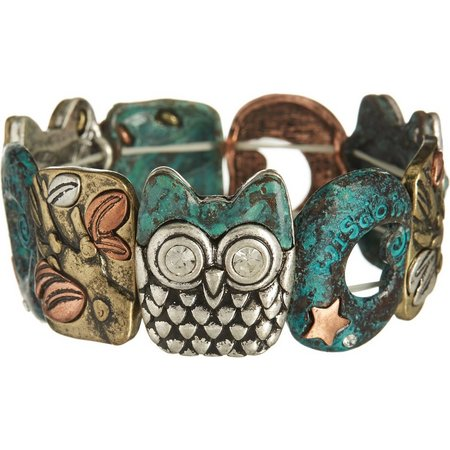 Believe In Owl Wisdom Multi Tone Bracelet