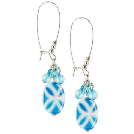 Carol Dauplaise Indie Shell Dangle Earrings