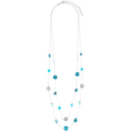 Paradise Shores 2 Row Blue Shell & Beads