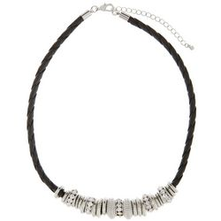 Izaro Crystal & Metal Slider Corded Necklace