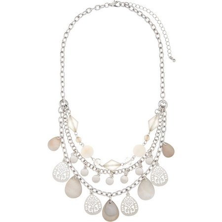 Coral Bay 3 Row Shaky Shell Front Necklace