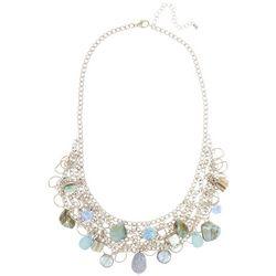 Coral Bay Blue Bead Mesh Chain Necklace