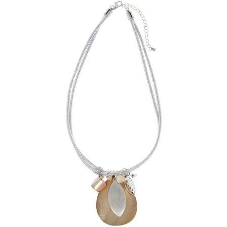 Coral Bay Beige Shell Pendant Necklace