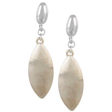 Coral Bay Silver Tone Marquis Drop Earrings
