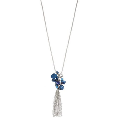 Coral Bay Victoria Blue Long Shell Tassel Necklace