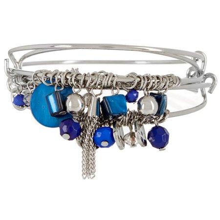 Coral Bay Victoria Blue Bangle Bracelet Set