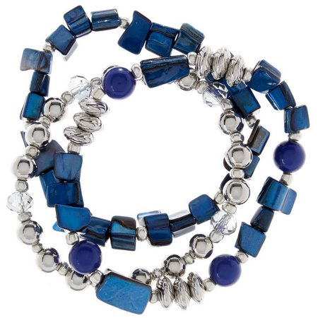 Coral Bay Victora Blue Shell & Bead Bracelet