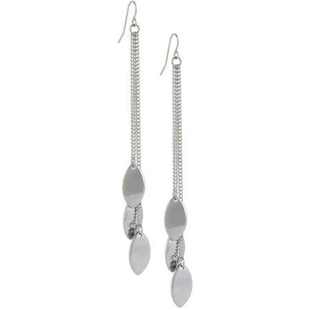 Bay Studio Silver Tone Marquis Drop Earrings
