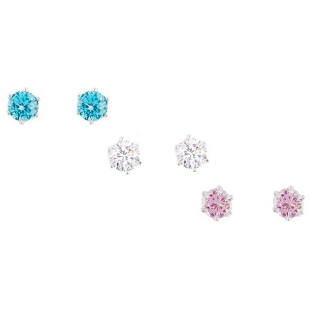 Bay Studio 3-pr. Cubic Zirconia Stud Earrings