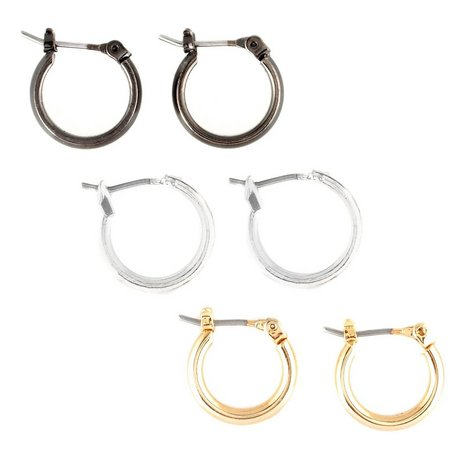Bay Studio Click Top Trio Hoop Earrings