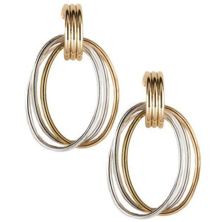 Bay Studio Two Tone Triple Oval Drop Earrings