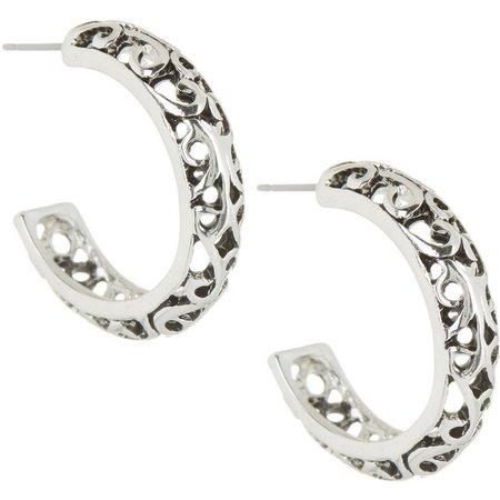 Bay Studio Bali Open Cutout Hoop Earrings