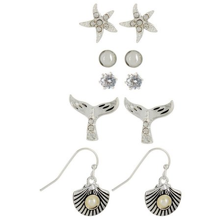 Bay Studio 5-pc.Faux Pearl Sea Life Earring Set